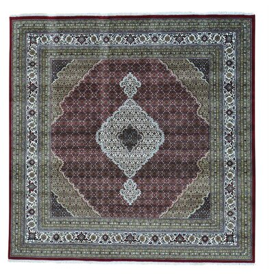 One-of-a-Kind Salmons Mahi Oriental Hand-Knotted Silk Area Rug