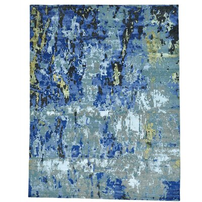 One-of-a-Kind Tanvi Abstract Oriental Hand-Knotted Silk Area Rug
