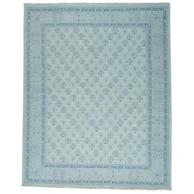 One-of-a-Kind Oritz Knot Oushak Cropped Hand-Knotted Area Rug