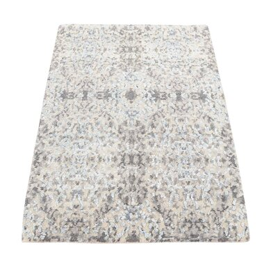 One-of-a-Kind Eddyville Abstract Hi-Lo Hand-Knotted Silk Area Rug