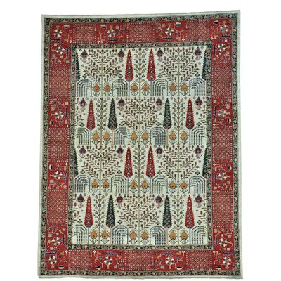 One-of-a-Kind Granillo Cypress and Willow Tree Hand-Knotted Area Rug