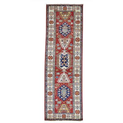 One-of-a-Kind Leela Geometric Super Oriental Hand-Knotted Area Rug