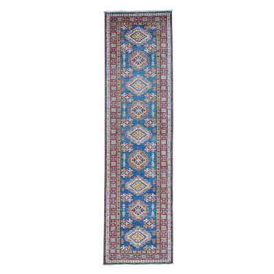 One-of-a-Kind Tilomar Super Geometric Oriental Hand-Knotted Area Rug