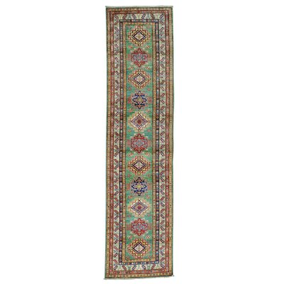 One-of-a-Kind Tilomar Super Light Geometric Oriental Hand-Knotted Area Rug