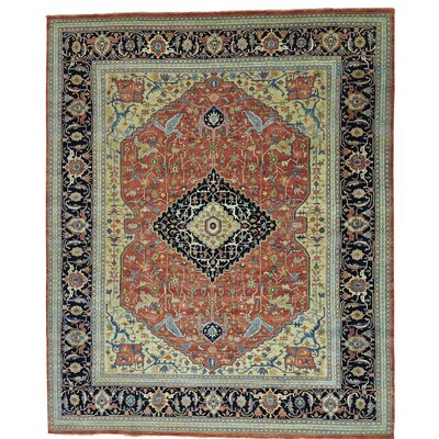 Fereghan Oriental Hand-Knotted Red Area Rug