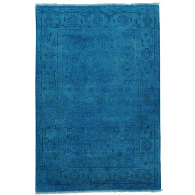 One-of-a-Kind Estella Overdyed Oriental Hand-Knotted Area Rug