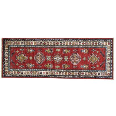 One-of-a-Kind Latimore Geometric Narrow Super Hand-Knotted Area Rug