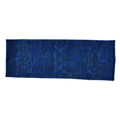 One-of-a-Kind MaryLou Worn Down Overdyed Hand-Knotted Area Rug