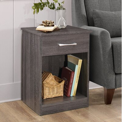 Penhook 1 Drawer Nightstand Color: Gray
