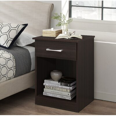 Penhook 1 Drawer Nightstand Color: Wenge
