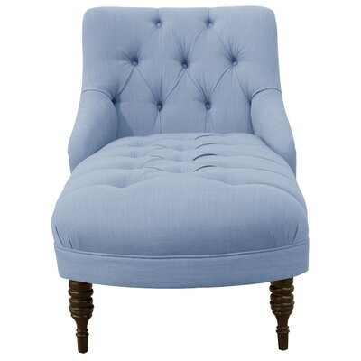 Strattenborough Tufted Slope Arm Chaise Lounge Color: Denim