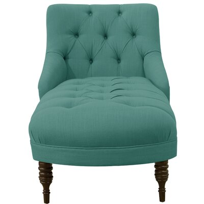 Strattenborough Tufted Slope Arm Chaise Lounge Color: Laguna
