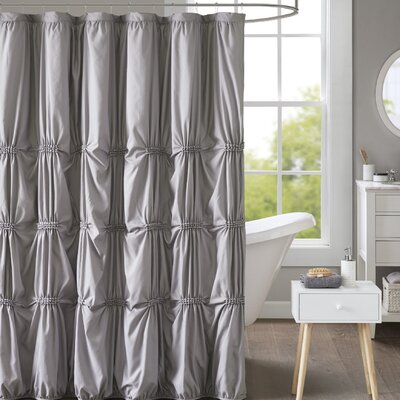 Moser Printed Shower Curtain Color: Gray
