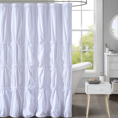 Moser Printed Shower Curtain Color: White