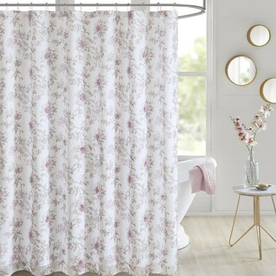 Tyree Floral Printed Shower Curtain