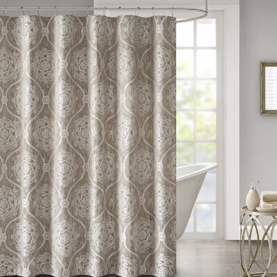 Hanner Jacquard Shower Curtain Color: Taupe