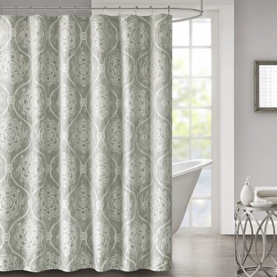 Hanner Jacquard Shower Curtain Color: Silver