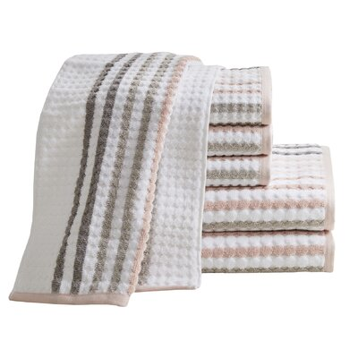 Landover 6 Piece Towel Set Color: Coral