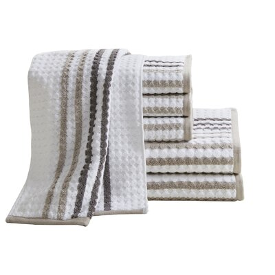 Landover 6 Piece Towel Set Color: Taupe