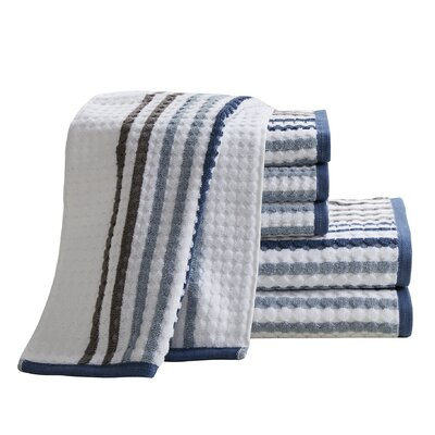 Landover 6 Piece Towel Set Color: Navy