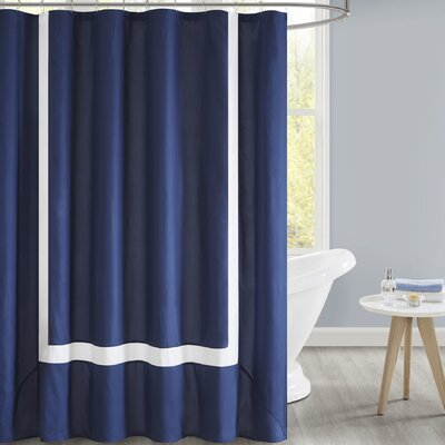 Faria Shower Curtain Color: Navy