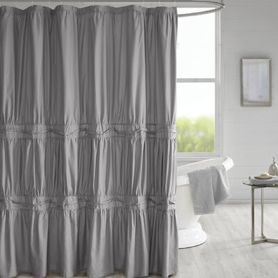 Tyntesfield Solid Shower Curtain Color: Gray