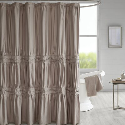Tyntesfield Solid Shower Curtain Color: Taupe