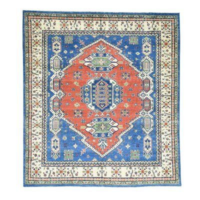 One-of-a-Kind Tillotson Geometric Oriental Hand-Knotted Area Rug
