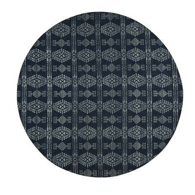 Flat Weave Reversible Kilim Hand-Knotted Black Area Rug