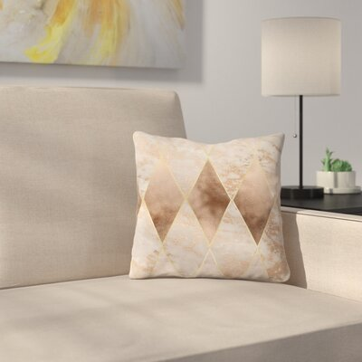 Trendy Rectangle Throw Pillow Size: 18 x 18