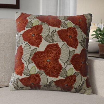 Kalmar Embellished Poppy Cotton Throw Pillow