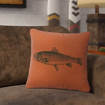 Nagel Trout Throw Pillow Color: Paprika
