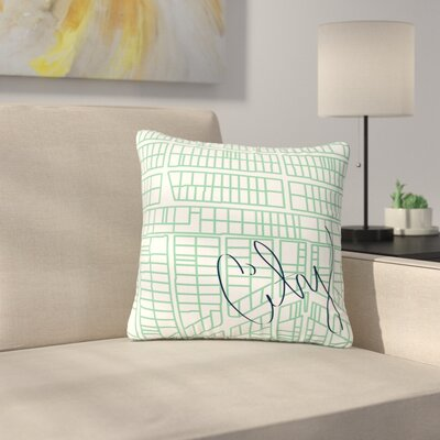 Love Midge City Streets & Parcels Outdoor Throw Pillow Size: 18 H x 18 W x 5 D