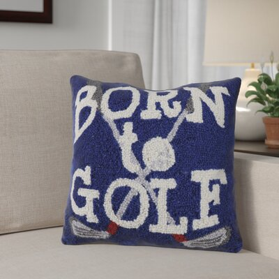 Nazarene Born To Golf Wool Throw Pillow