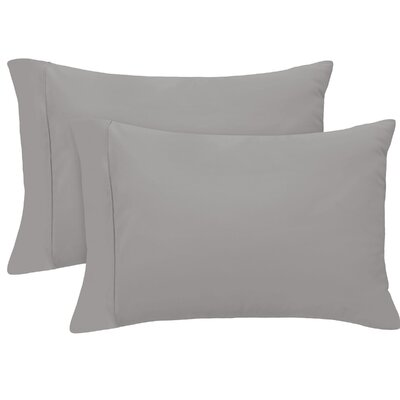 Pillow Case Size: King, Color: Charcoal
