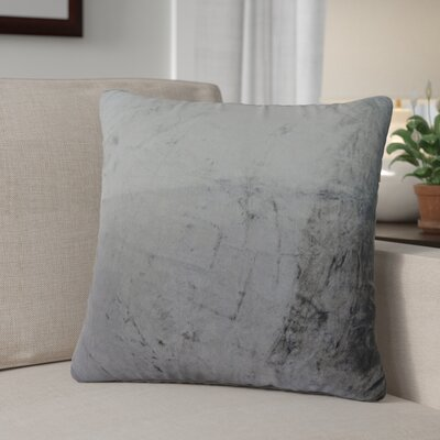 Nystrom Ombre Throw Pillow Color: Silver