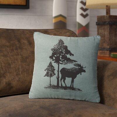 Nakagawa Moose Tree Throw Pillow Color: Ocean