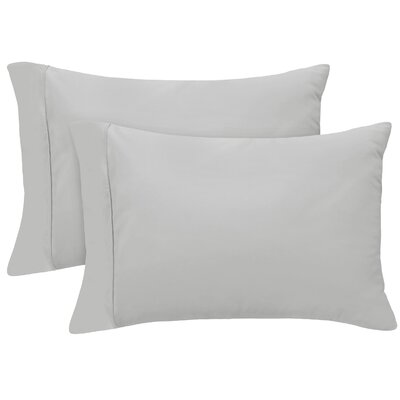Pillow Case Size: King, Color: Platinum