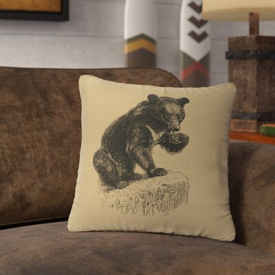 Nailwell Bear Cub Throw Pillow Color: Straw