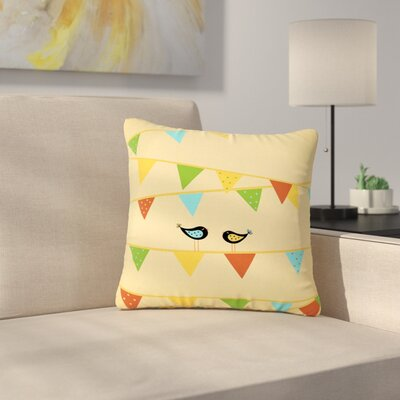 Cristina Bianco Birds Kids Outdoor Throw Pillow Size: 16 H x 16 W x 5 D