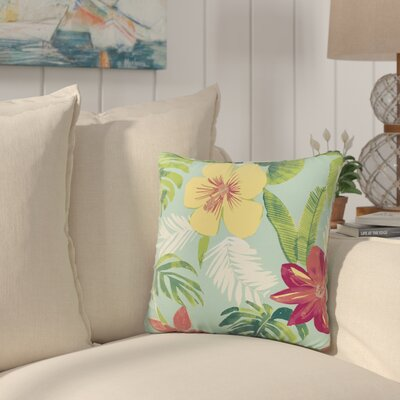 Kitts Tropical Outdoor Throw Pillow
