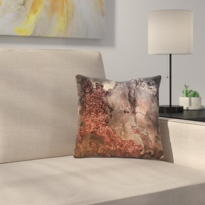 Luxury and Glitter Gem Agate and Marble Texture Throw Pillow Size: 16 x 16