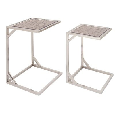 Ormond Rustic 2 Piece Nesting Tables Color: Silver