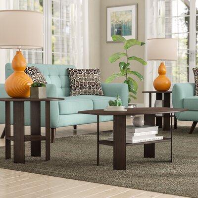 Ballou Coffee Table Set Color: Cappuccino