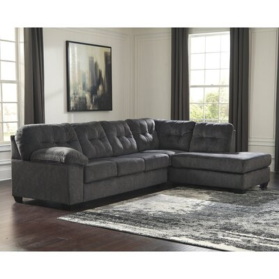 Parthena Sectional Upholstery: Granite
