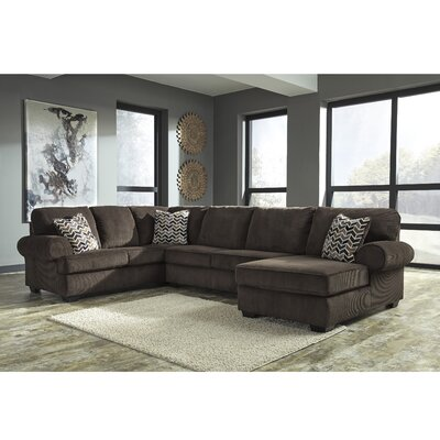 Parthena Sectional Upholstery: Chocolate, Orientation: Left Hand Facing