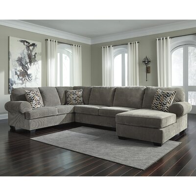 Parthena Sectional Upholstery: Gray, Orientation: Left Hand Facing