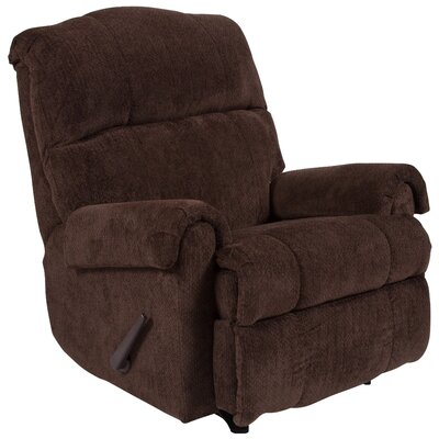 Otis Manual Rocker Recliner Upholstery: Chocolate