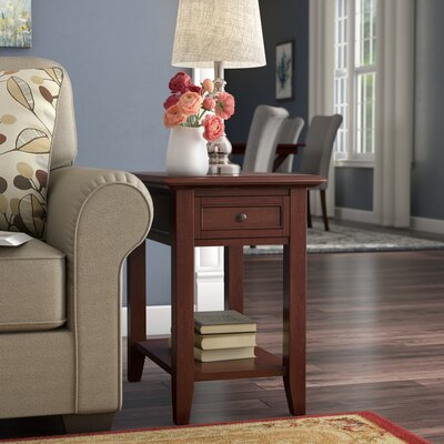 Ellicott End Table With Storage� Color: Espresso