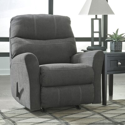 Montufar Manual Rocker Recliner Upholstery: Charcoal